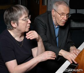 QUITE THE DUO: Márta and György Kurtág at the piano.