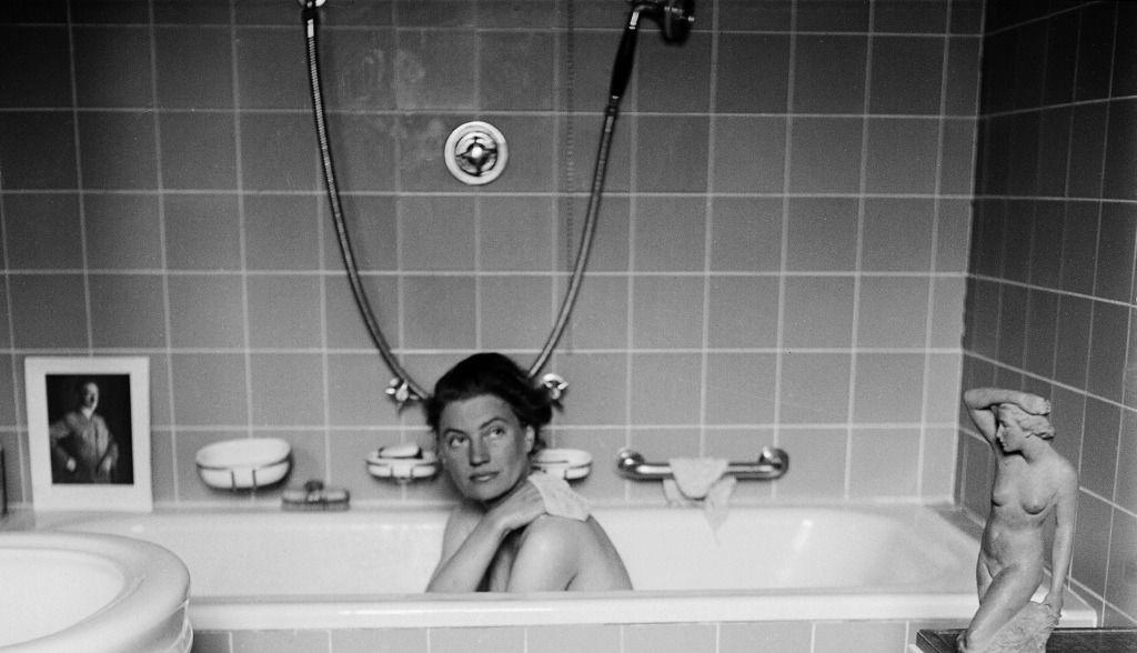 Lee Miller in Hitler's bath, 1945.
