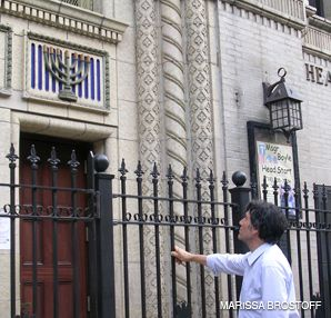 HOLY QUEST: Charles Bierman alleges that the Roman Catholic Archdiocese is hiding the whereabouts of stained-glass windows that once adorned the Mosholu Jewish Center.