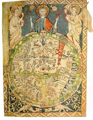 Scribbled on the Back of a Napkin: A medieval mappa mundi from 12th century London.