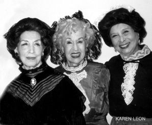 Grand Dames: From left, Zypora Spaisman, Mina Bern, Shifra Lerer.