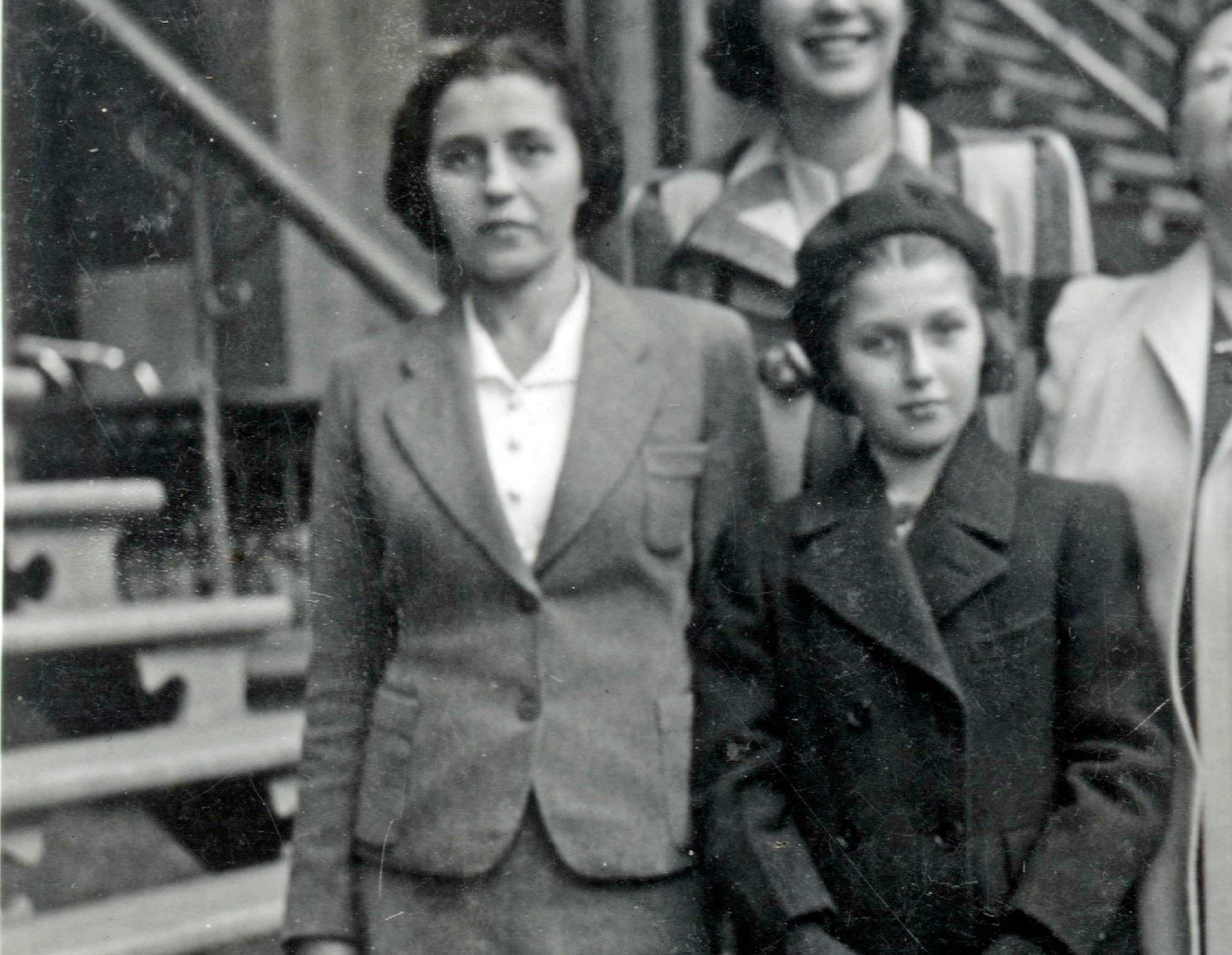 Masha Leon (right) with her mother