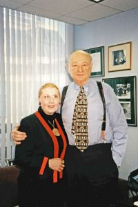 New York Moment: Masha Leon and Ed Koch in 1997.