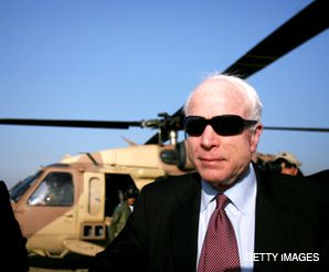 MCCAIN: The Arizona senator and Republican presidential candidate toured Sderot, Israel in March
