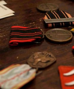 Legions of Honors:  For her service in the Resistance, Charlotte Sorkine was honored with the Médaille de la Résistance (center, black and red stripes).