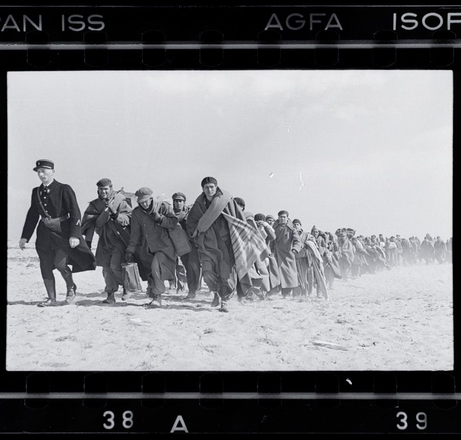 What the French didn?t Want to Show: Robert Capa photographed exiled Republicans being marched to an internment camp in La Barcarès, France, March 1939. [CLICK FOR LARGER VIEW]