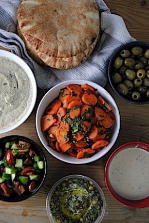Mezze are a perfect dish to welcome you home after a day of fasting and are easily made a day or two before.