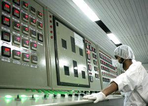 Control room of the Isfahan Uranium Conversion Facilities, February 2007