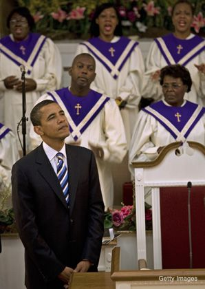 Taking It to Heart: Barack Obama has made his religious beliefs a central theme of his candidacy.