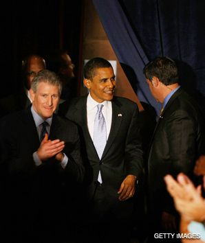 Wexler: Rep. Robert Wexler of Florida, left, has been among the lawmakers who have been part of an aggressive outreach program to Jewish voters on behalf of Barack Obama.