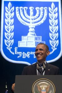 President Obama, on the second day of his Israel trip.