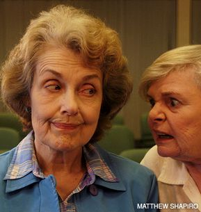 WATCH MY LIPS: Lillian (Mary Beth Peil) does not voice her disapproval of Gertrude (June Squibb) and her voice in ?Old Days.?
