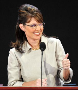 Her Moment: Palin at the GOP national convention in 2008. She has garnered plaudits from prominent neo-conservatices, including William Kristol, Norman Podhoretz and Seth Lipsky.