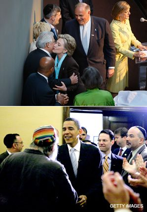 PENNSYLVANIA: Hillary Clinton and Barack Obama both courted Jewish voters in Pennsylvania before the state?s primary.