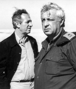 Key Players: In the 1980s, Shimon Peres (left) and Ariel Sharon were closely involved in Israel?s military collaboration with South Africa, according to ?The Unspoken Alliance.?