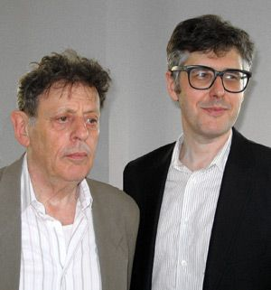 Glass Family: Philip Glass, left, was interviewed by his cousin, Ira Glass, Right.