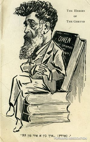LITERARY THRONE: Even contemporaries saw playwright Jacob Gordin as a larger-than-life figure.