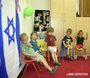 STARTING YOUNG: Preschool students at Gan Gani do all their activities in Hebrew, including play time.