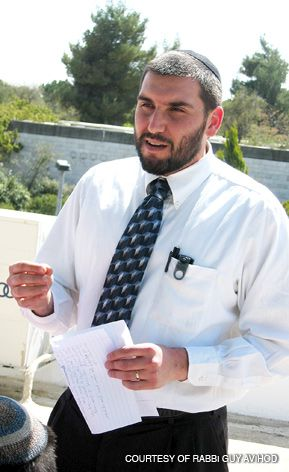 LEADER: Rabbi Guy Avihod directs the study hall, geared toward observant men with a range of disabilities.