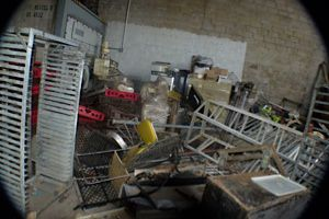 This is all that remains of the Shabtai Gourmet factory after it was hit by Hurricane Sandy.