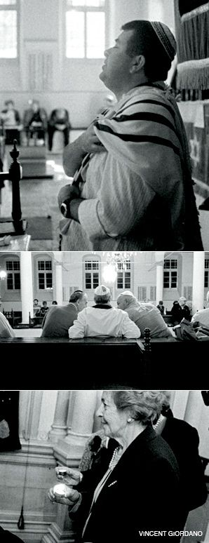 SNAPSHOT: Vincent Giordano photographed Romaniote Jews in Greece and in New York. Above, images of worshippers in Ioannina, Greece, in 2006 and 2007.