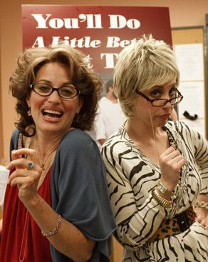 Feisty: Ronna and Beverly promote a dating guide.
