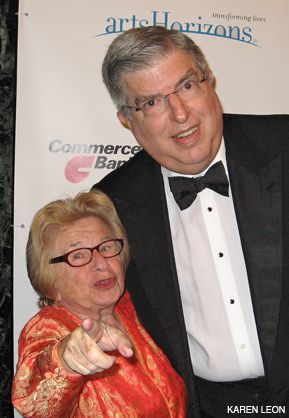 DYNAMIC DUO: Ruth Westheimer and Marvin Hamlisch strike a pose.