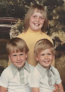 Family Finds: Elizabeth Tinkham with her two brothers.