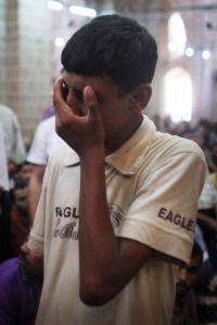 Arab Tears: Boy weeps in Gaza after Israeli attack killed several Palestinian leaders suspected of involvement in terror attacks.
