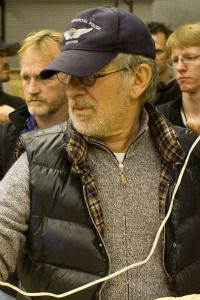 Steven Spielberg works on the set of ?Tintin.?