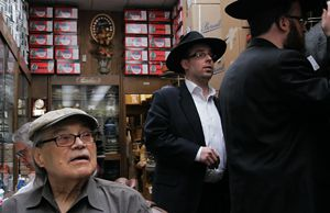 Hat Man: Stanley Goldstein doles out advice on headwear at Bencraft Hats in Williamsburg.