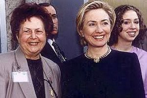 Carmen Weinstein, leader of Egypt?s Jews, poses with Hillary Clinton.
