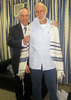 Captive to Failed Policy: Alan Gross, right, meets with Rabbi Arthur Schneier during a recent jailhouse visit in Cuba.