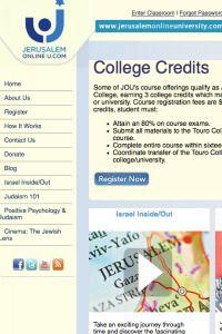 College or Chutzpah? Jerusalem Online U. portrays itself as a legitimate academic program.