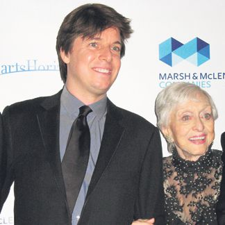 Joshua Bell and Celeste Holm