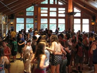Before the Tragedy: Campers hold a dance party at Camp Tawonga in the hours before the freak accident that killed a counselor.