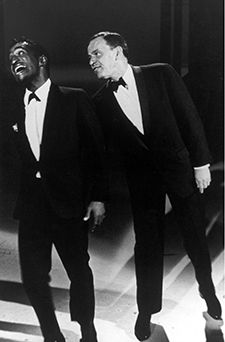 Funny, You Don?t Look Italian: Sammy Davis Jr., who was Jewish, and Italian singer Frank Sinatra discuss identity categories on stage in January 1960.