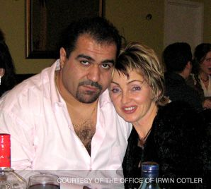 Better Times: Saul Itzhayek in Canada with his wife before he was arrested in India last fall.