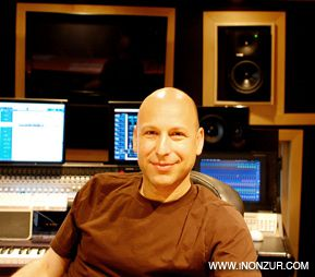 SEAT OF POWER: Inon Zur in his recording and mixing studio in Los Angeles.
