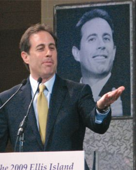 Yada, Yada, Yada: Jerry Seinfeld was honored at the Ellis Island event.