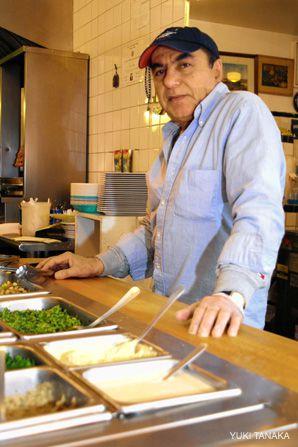 Can't Take the Heat?: Ezra Cohen owns the Azuri Café in Midtown Manhattan.