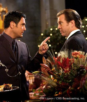 The Young and the Restless character Brad Carlton (Don Diamont, left, with Peter Pergman) reveals his Jewish roots.