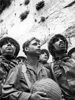 In Awe: Israeli soldiers at the Western Wall immediately after its recapture in 1967.