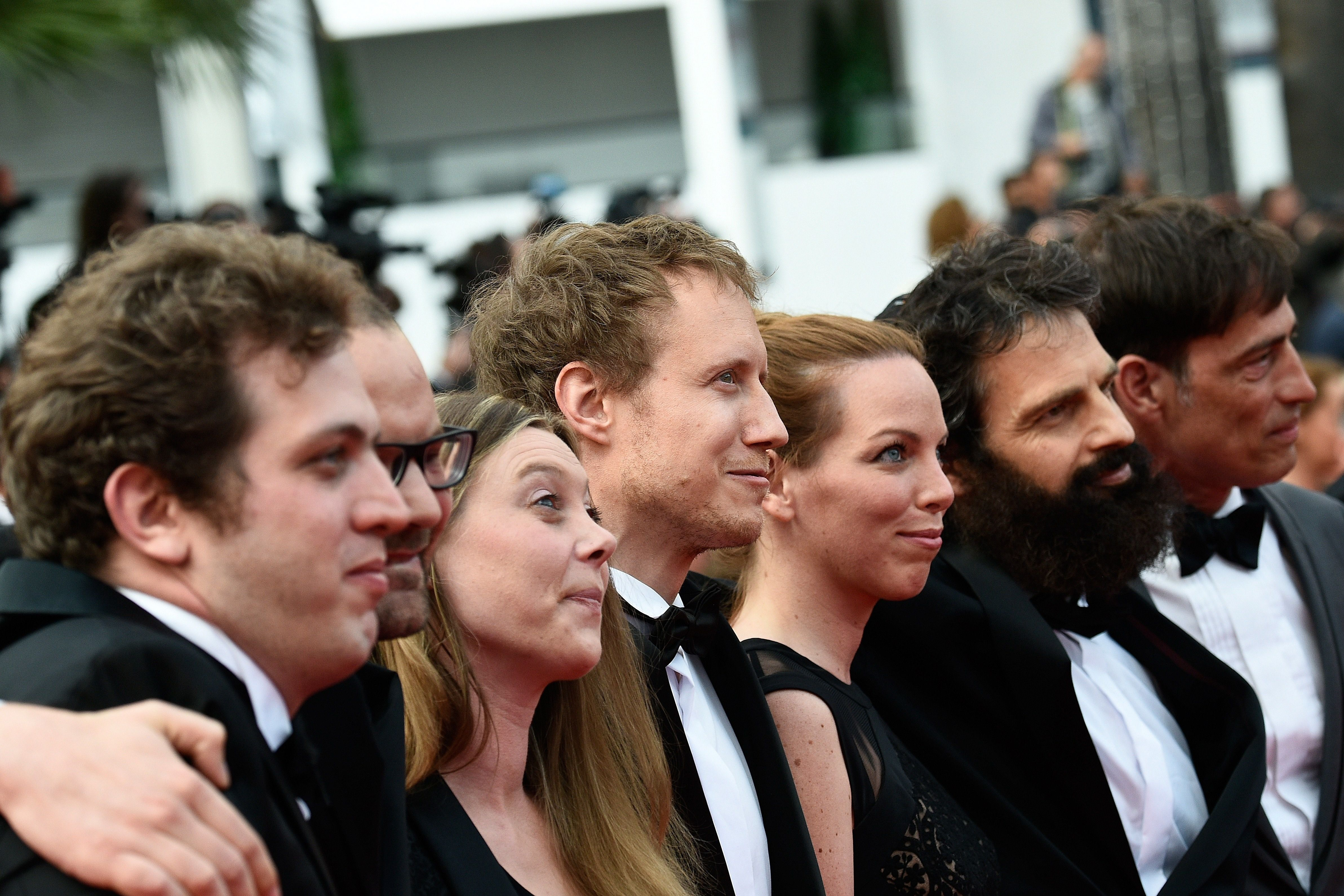 The 'Son of Saul' cast at Cannes.