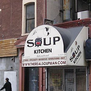 The soup kitchen in Midtown Manhattan housed the original ?Soup Nazi.? Now, his soups will be available from the side of food trucks across the country.
