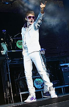 Star Power: Justin Bieber, seen above performing in Milan in April.