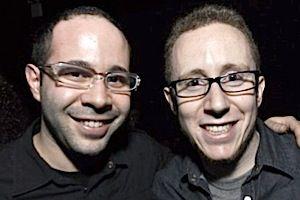 MUSIC MEN: JDub Records CEO Aaron Bisman (right) and COO Jacob Harris.