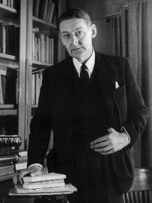 Bifurcated Man: Metic poet and critic, Thomas Stearns Eliot, in 1950.