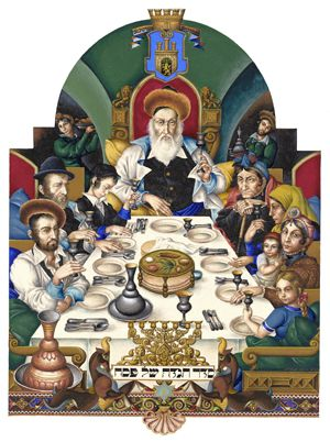 The Seder, Illuminated: A page from ?The Szyk Haggadah,? a coffee table book featuring the hyper-realist art of Arthur Szyk.