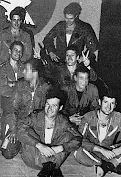 The Team: Members of the Israeli Air Force who took part in Operation Opera. The team included Israel?s first astronaut, Ilan Ramon, top left. Some of the faces have been obscured for security reasons.